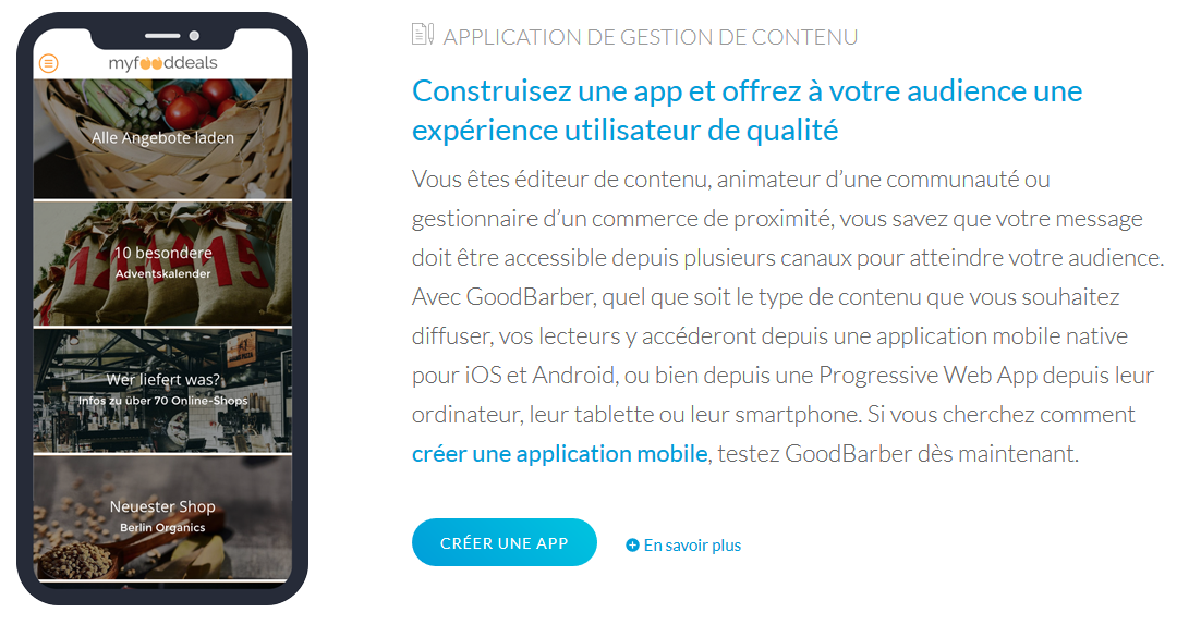 goodbarber app wordpress